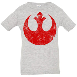 Star Wars Big Red Rebel Alliance Distressed Logo Graphic Infant Jersey T-Shirt