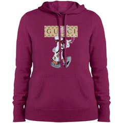 Gucci Rabbit Smoking Tshirt Women Hooded Sweatshirt Women Hooded Sweatshirt - PresentTees