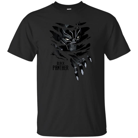 Marvel Black Panther Breaks Through T Shirt Black / Small Mens Cotton T-Shirt - PresentTees