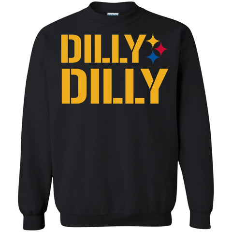 Dilly Dilly Logo Steelers Shirt Crewneck Pullover Sweatshirt Black / S Crewneck Pullover Sweatshirt - PresentTees