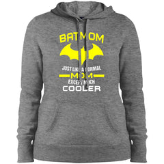 Batmom Just Like A Normal Mom Except Much Cooler - Mothers Day And Birthday Ladies Pullover Hooded Sweatshirt Ladies Pullover Hooded Sweatshirt - PresentTees