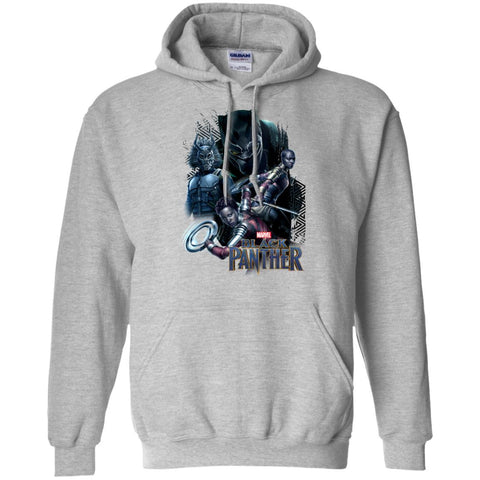 Marvel Black Panther Movie Okoye Nakia Group T-shirt Sport Grey / Small Pullover Hoodie 8 oz - PresentTees