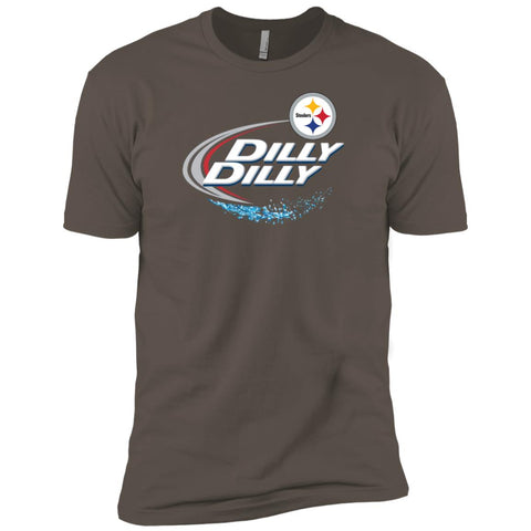 Pittsburgh Steelers Dilly Dilly Nfl Football T Shirt Warm Grey / S Mens Short Sleeve T-Shirt - PresentTees