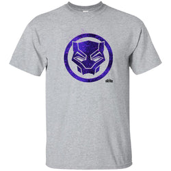Marvel Black Panther Movie Purple Splatter Icon T-shirt