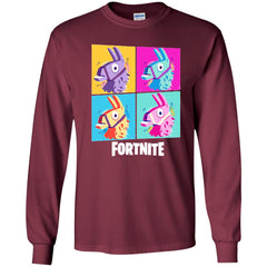 Fortnite Four Llamas Youth Long Sleeve Shirt Youth Long Sleeve Shirt - PresentTees
