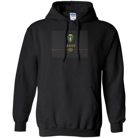 Gucci Graphic Logo Black T-shirt Pullover Hoodie Sweatshirt Black / S Pullover Hoodie Sweatshirt - PresentTees