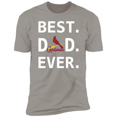 Best St Louis Cardinals Dad Ever Baseball Fathers Day Gift Men's Premium T-Shirt T-Shirts - PresentTees