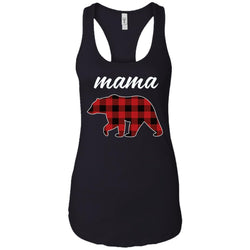 Mama Bear T Shirt For Mom And Grandma On Mothers Day Or Birthday Heather Grey Ladies Racerback Tank