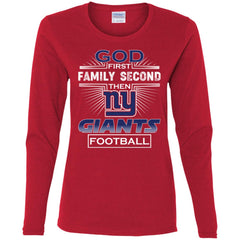 62d387b3 God First Family Second Then New York Giants Nfl Football Sweater