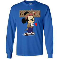 Couple Gucci Mickey Tshirt Valentine's Day Men Long Sleeve Shirt