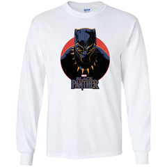 Marvel Black Panther Movie Retro Circle Portrait Youth T Shirt Youth Long Sleeve Shirt - PresentTees
