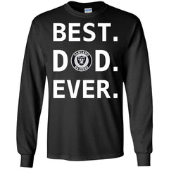 Best Oakland Raiders Dad Ever Fathers Day Shirt Mens Long Sleeve Shirt Mens Long Sleeve Shirt - PresentTees