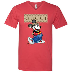Gucci Mickey Mouse Trending T-shirt Men V-Neck T-Shirt Men V-Neck T-Shirt - PresentTees
