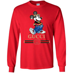 Gucci T-shirt Mouse Mickey Cartoon Men Long Sleeve Shirt Men Long Sleeve Shirt - PresentTees