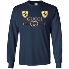Best Gucci Ferrari New 2018 T-shirt Men Long Sleeve Shirt Men Long Sleeve Shirt - PresentTees