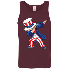 Dabbing Uncle Sam Shirt 4th Of July Independence T Shirt Mens Tank Top Mens Tank Top - PresentTees