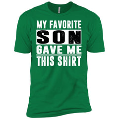 My Favorite Son Gave Me This-shirt - Mothers Day Fathers Day Gift Fromson Kelly Green Mens Short Sleeve T-Shirt Mens Short Sleeve T-Shirt - PresentTees