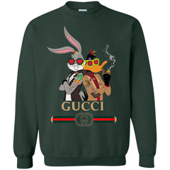 Gucci Trending T-shirt Rabbit And Donald Crewneck Pullover Sweatshirt Crewneck Pullover Sweatshirt - PresentTees
