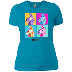 Fortnite Four Llamas Funny Womens Cotton T-Shirt Womens Cotton T-Shirt - PresentTees