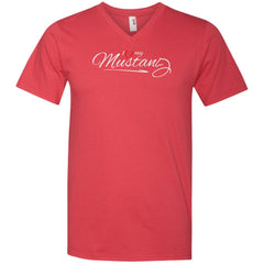 I Love My Mustang Shirt - Wild Horse Lovers T Shirt Mens V-Neck T-Shirt - PresentTees