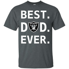Oakland Raiders Dad Best Dad Ever Fathers Day Shirt Mens Cotton T-Shirt Mens Cotton T-Shirt - PresentTees