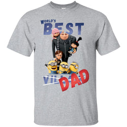 Despicable Me World's Best Dad Gru Fathers Day Gift Mens Cotton T-Shirt