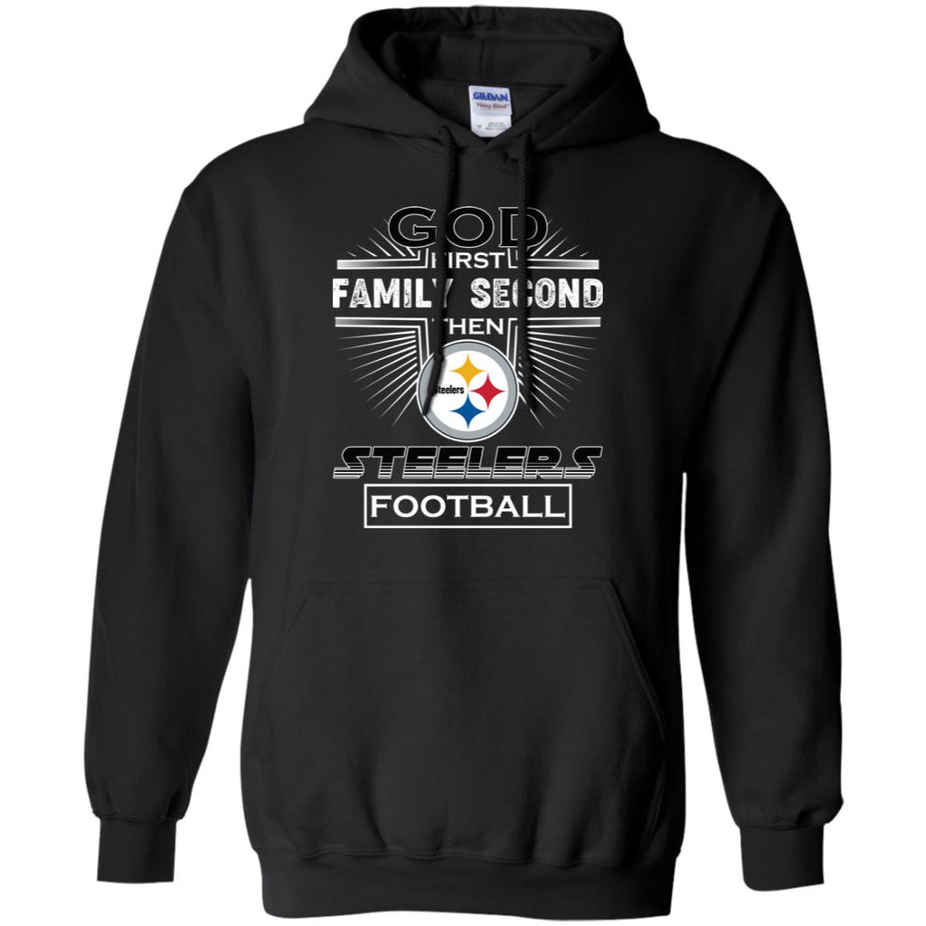 check out 87019 11e80 God First Family Second Then Pittsburgh Steelers Nfl Football Sweater