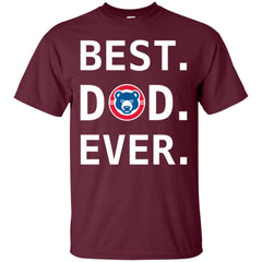 Best Dad Ever Chicago Cubs Baseball - Fathers Day Gift Mens Cotton T-Shirt Mens Cotton T-Shirt - PresentTees