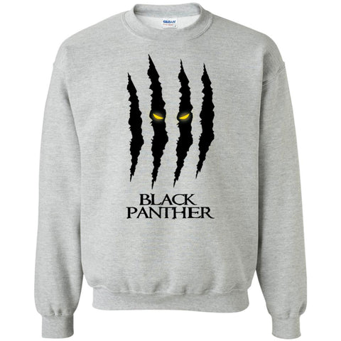 Mavel Black Panther Glares T Shirt Sport Grey / Small Crewneck Pullover Sweatshirt - PresentTees