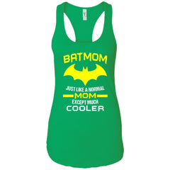 Batmom Just Like A Normal Mom Except Much Cooler - Mothers Day And Birthday Ladies Racerback Tank Ladies Racerback Tank - PresentTees