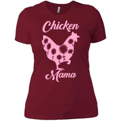 Chicken Mama Shirt For Mom Sister Antie Grandma Womens Cotton T-Shirt Scarlet / S Womens Cotton T-Shirt - PresentTees