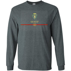 Gucci Graphic Logo Black T-shirt Men Long Sleeve Shirt Men Long Sleeve Shirt - PresentTees