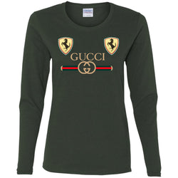 Best Gucci Ferrari New 2018 T-shirt Women Long Sleeve Shirt