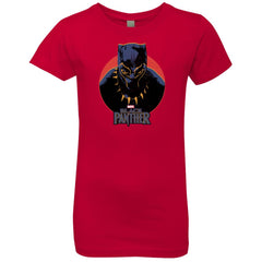 Marvel Black Panther Movie Retro Circle Portrait Youth T Shirt Girls Princess T-Shirt - PresentTees