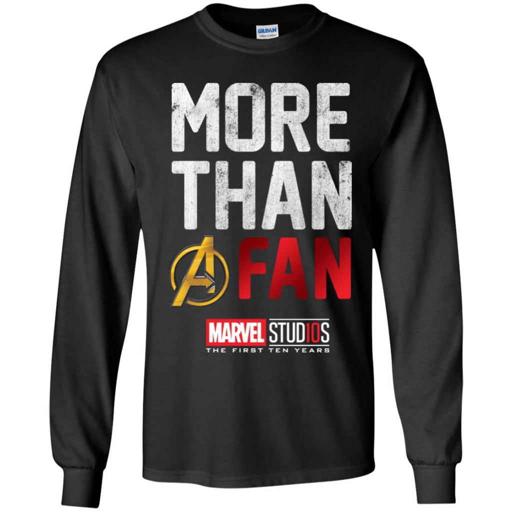 2a34d28bc9c More Than A Fan 10th Anniversary Marvel Studios Youth Long Sleeve Shirt  Youth Long Sleeve Shirt