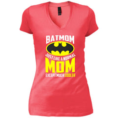Batmon Just Like A Normal Mom Except Much Cooler T-shirt - Womens Batman Shirt Womens V-Neck T-Shirt - PresentTees