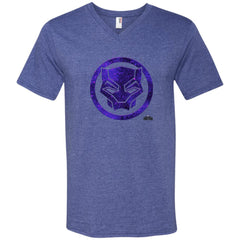 Marvel Black Panther Movie Purple Splatter Icon T-shirt Mens V-Neck T-Shirt - PresentTees