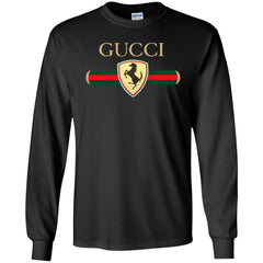 Gucci Ferrari T-shirt Men Long Sleeve Shirt Men Long Sleeve Shirt - PresentTees