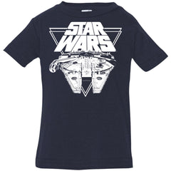 Star Wars Millennium Falcon In Action Infant Jersey T-Shirt Infant Jersey T-Shirt - PresentTees