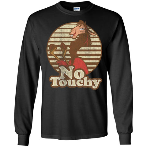 Disney Emperors New Groove Kuzco Llama No Touchy Shirt Mens Long Sleeve Shirt Black / S Mens Long Sleeve Shirt - PresentTees