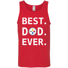 Pittsburgh Steelers Dad Best Dad Ever Fathers Day Shirt Mens Tank Top Mens Tank Top - PresentTees