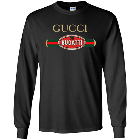 Gucci Bugatti T-shirt Men Long Sleeve Shirt Black / S Men Long Sleeve Shirt - PresentTees