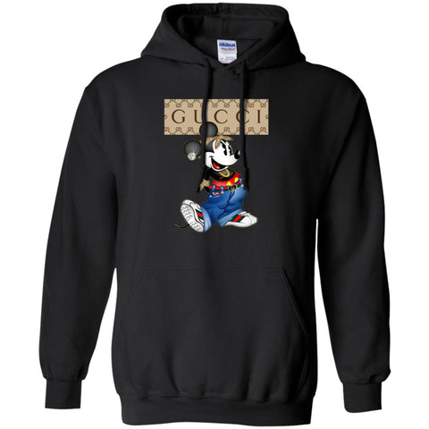 Gucci Mickey Mouse Trending T-shirt Pullover Hoodie Sweatshirt Black / S Pullover Hoodie Sweatshirt - PresentTees