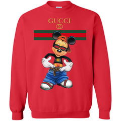 Gucci Logo Mickey Gift Trending Crewneck Pullover Sweatshirt Crewneck Pullover Sweatshirt - PresentTees