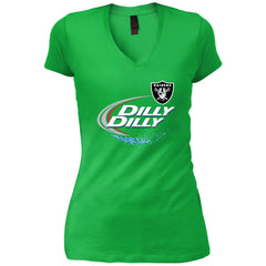Oakland Raiders Dilly Dilly Oak Nfl Womens V-Neck T-Shirt Womens V-Neck T-Shirt - PresentTees