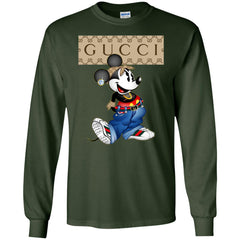 Gucci Mickey Mouse Trending T-shirt Men Long Sleeve Shirt Men Long Sleeve Shirt - PresentTees