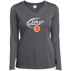 Dilly Dilly Kansas City Chiefs Shirt For Men And Women Ladies V-Neck Long Sleeve Shirt - PresentTees