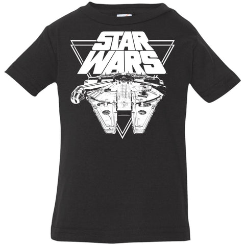 Star Wars Millennium Falcon In Action Infant Jersey T-Shirt Black / 6 Months Infant Jersey T-Shirt - PresentTees