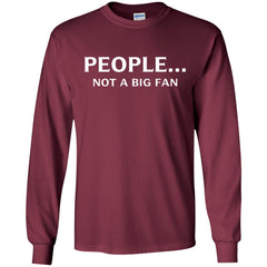 Funny People Not A Big Fan T-shirt Introvert Tee Mens Long Sleeve Shirt - PresentTees