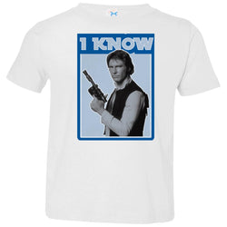 Star Wars Han Solo Iconic Unscripted I Know Graphic Toddler Jersey T-Shirt